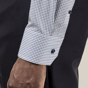 Eton- Navy Micro Printed Dress Shirt