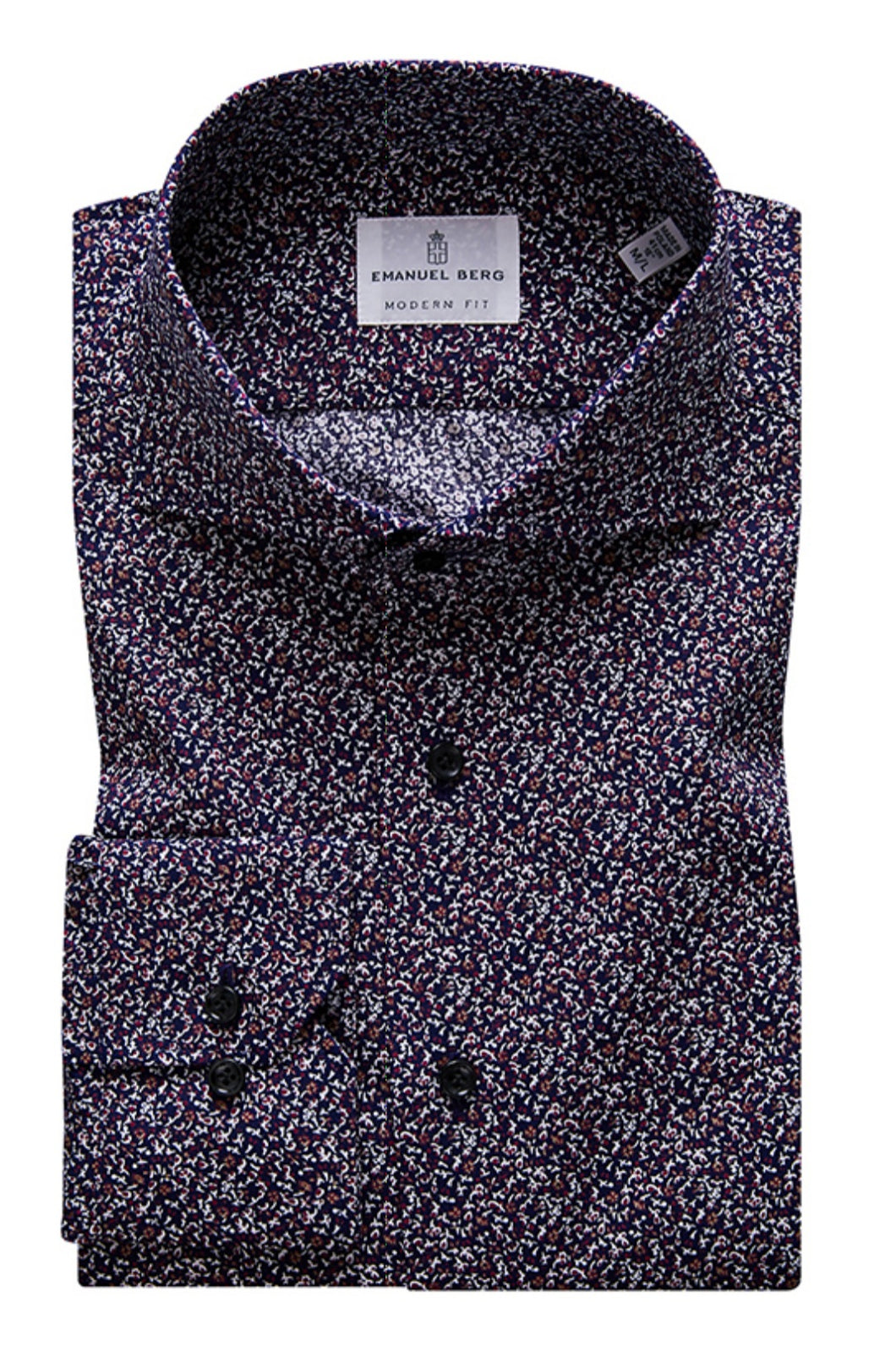EMANUEL BERG- Navy/Red Floral Shirt