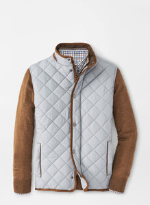 Peter Milllar- Essex Quilted Travel Vest- Gale Grey