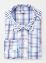 Load image into Gallery viewer, PETER MILLAR- Howard- Performance Sport Shirt- Purple/ Blue