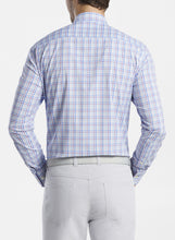 Load image into Gallery viewer, PETER MILLAR- Howard Performance Sport Shirt- Purple/ Blue