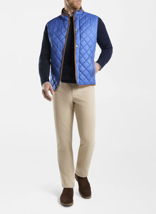Peter Millar- Essex Quilted Travel Vest- York blue