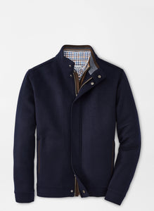 Peter Millar- Crown Flex-Fleece Bomber Jacket- Navy