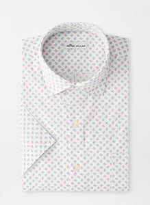 PETER MILLAR- Shark Tooth Cotton-Blend Short-Sleeve Sport Shirt