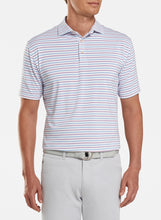 Load image into Gallery viewer, Peter Millar- performance polo- red/ blue stripe