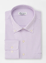 Load image into Gallery viewer, PETER MILLAR- Lavender Check Performance Shirt