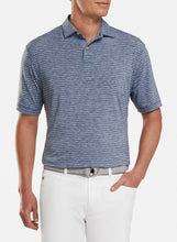 Load image into Gallery viewer, Peter Millar- performance polo- navy/grey stripe