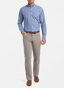 Peter Millar- Ultimate Sateen Five-Pocket Pant- Gale Grey