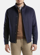 Load image into Gallery viewer, Peter Millar- Crown Flex-Fleece Bomber Jacket- Navy