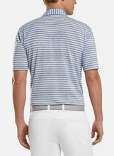 Load image into Gallery viewer, Peter Millar- performance polo- blue/ grey stripe