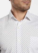 Load image into Gallery viewer, PETER MILLAR- Shark Tooth Cotton-Blend Short-Sleeve Sport Shirt