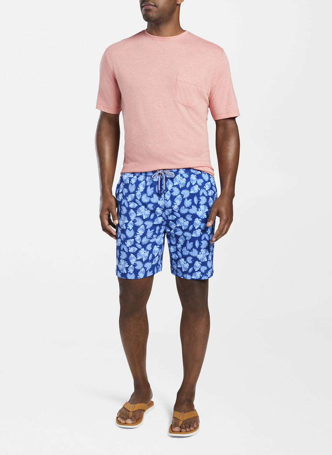 PETER MILLAR- Primo Palms Swim Trunk- Deep Ocean