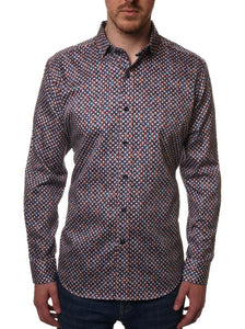 Rodd and Gunn- ANATORI short sleeve, bird printed shirt