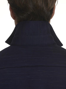 Robert Graham- RENSON- Knit Shirt Jacket with Stretch- Navy