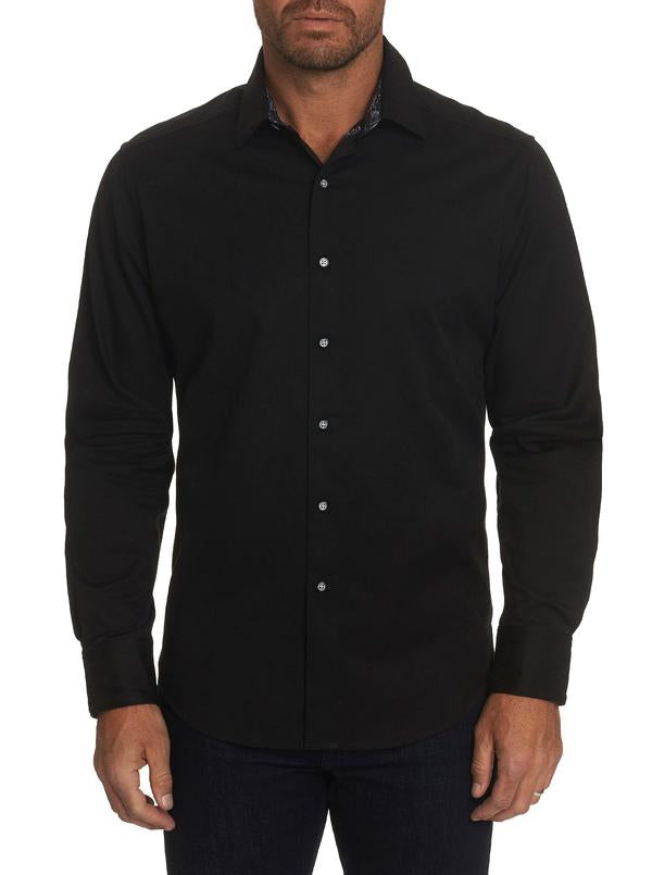 Robert Graham- ANDRETTI black long sleeve shirt