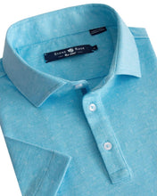Load image into Gallery viewer, Stone Rose- Turquoise Jacquard Knit Polo