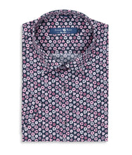 Load image into Gallery viewer, Stone Rose- Pink Geometric Print Short Sleeve Shirt