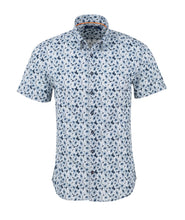 Load image into Gallery viewer, Stoner Rose- Navy Floral Print Short Sleeve Shirt