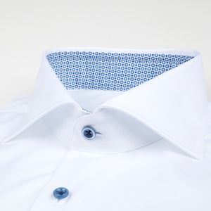 STENSTROMS- Fitted Body Shirt Contrast White