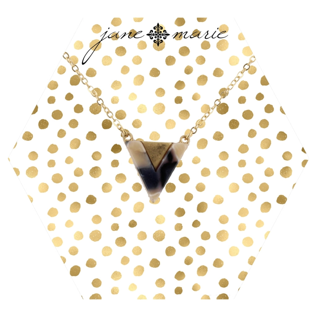 Resin Triangle Necklace