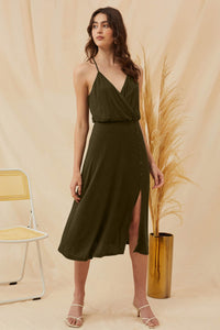 Olive Day to Night Dress