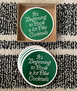 It's beginning to look a lot like cocktails coasters