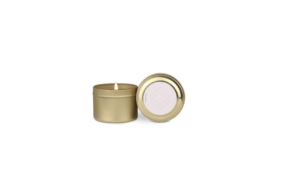 Wisteria & Willow Gold Tin Candle