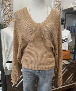Gold Crochet Knit