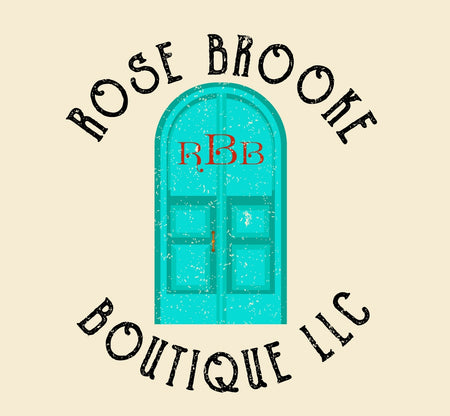 Rose Brooke Boutique LLC RBB on turquoise doors