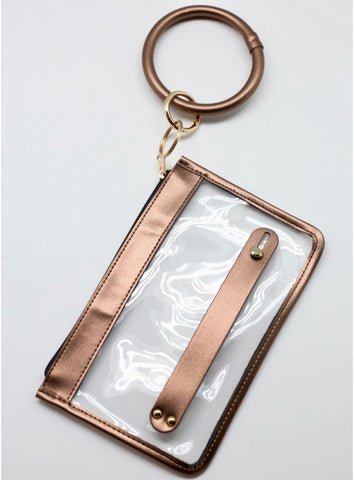 Bag - Kate Metallic Keychain Pouch, bronze