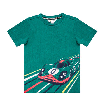"""Race Car"" Teal T-Shirt"