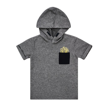 Heather Grey Hooded Shirt