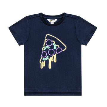 Navy Pizza T-Shirt