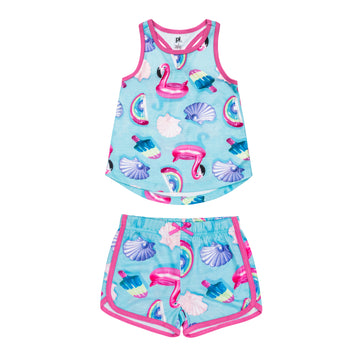 """Pool Party"" Tank & Shorts Lounge Set"