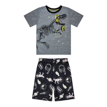 """Rock and Roar"" Junior Summer PJ Set"