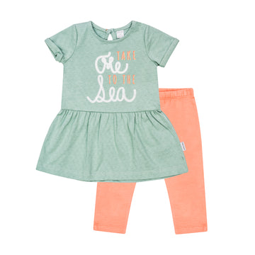 """Mermaid"" Dress & Legging Set"