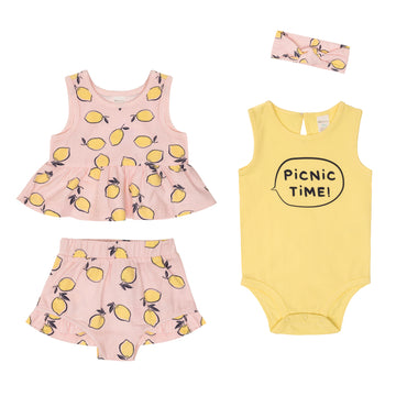 """Lemon"" Summer Set (4Pc)"