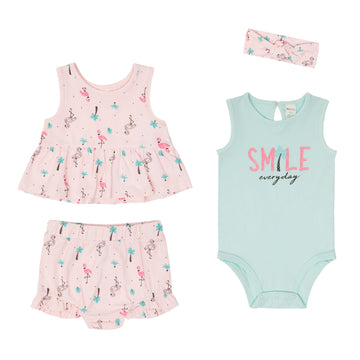 """Flamingo"" Summer Set (4Pc)"