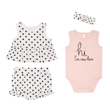 """Polka Dot"" Summer Set (4Pc)"