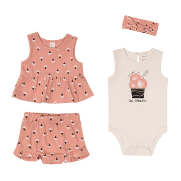 """Ice Cream"" Summer Set (4Pc)"