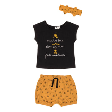 """Bee"" Outfit Set (3Pc)"