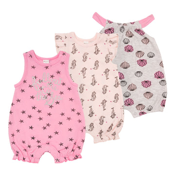 """Seashell"" Rompers (3 Pack)"