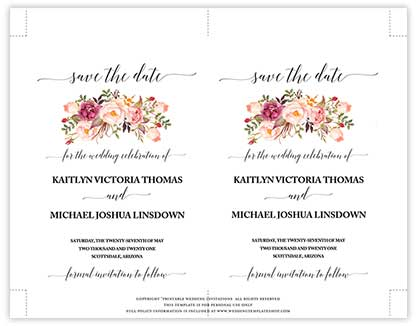 Free Save the Date Template Overview