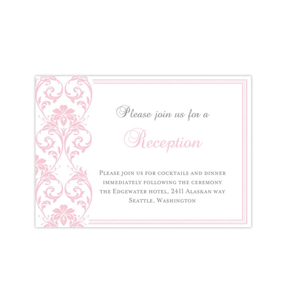 Wedding Reception Invitations Printable DIY Templates Wedding