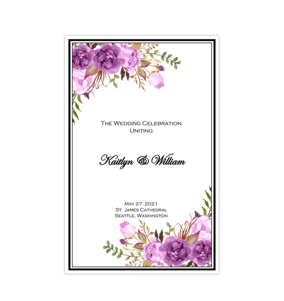 Printable Wedding Templates - Romantic Blossoms - DIY