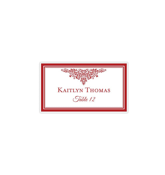 Wedding Seating Card Anna Maria Red 47 Tent Printable DIY