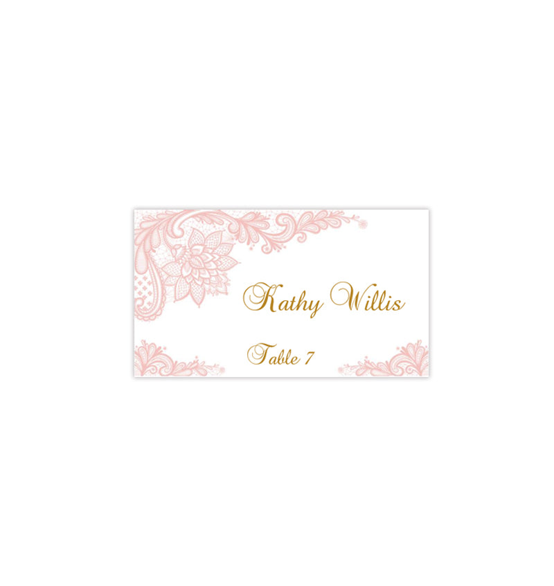 graphic relating to Printable Seating Cards identify Wedding ceremony Seating Card Basic Lace Blush Crimson Tent