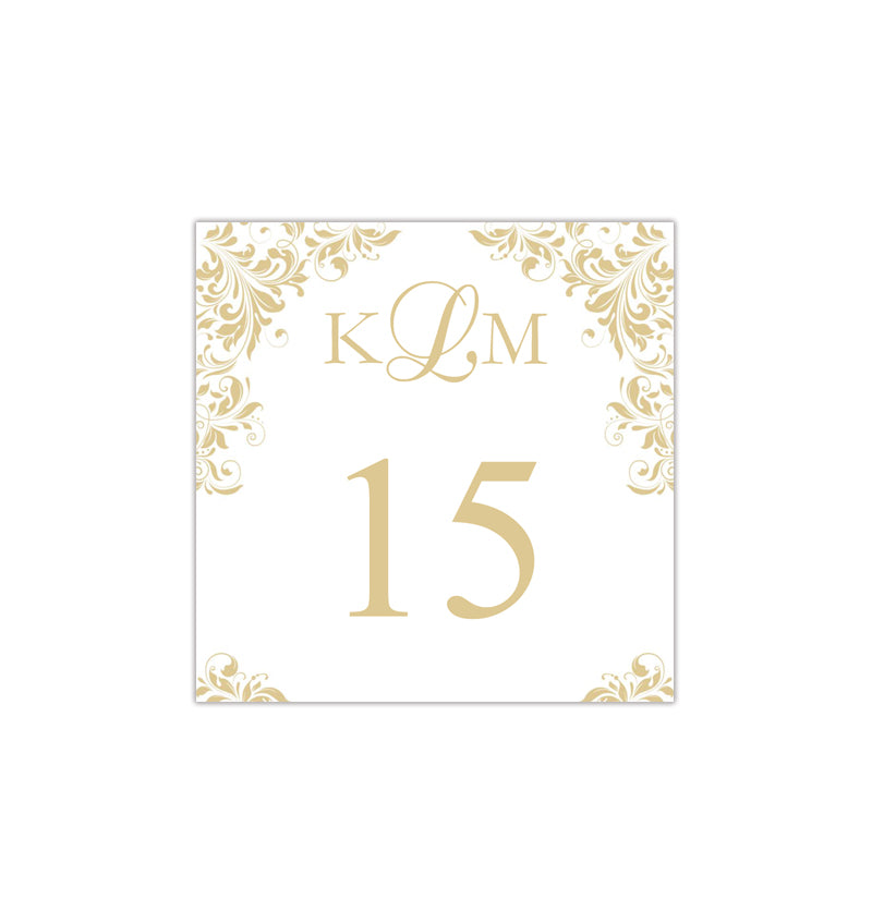 Printable Table Number Template Gold Champagne Tent ...