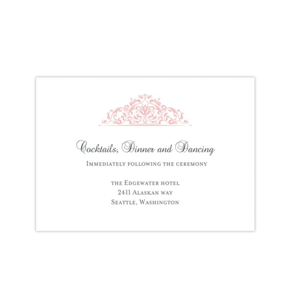 Wedding Reception Invitations Grace Blush Pink Printable Templates