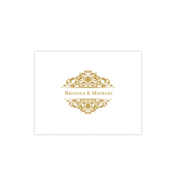 Wedding Thank You Card Grace Gold Printable DIY Template